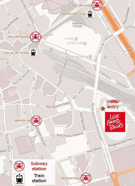 Lille Grand Palais access